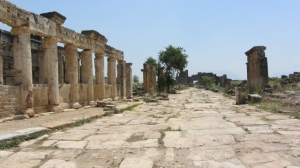 Remains of the main avenue with facade, Hierapolis